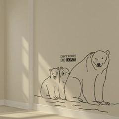 동물 월데코-백곰가족