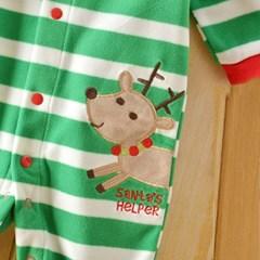산타의도우미 줄무늬 발싸개 우주복(0-12개월)203457_(902335573)