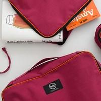 travel storage bag pink