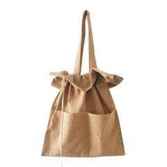 cotton shirring bag-camel