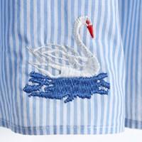 Swan 자수 블라우스