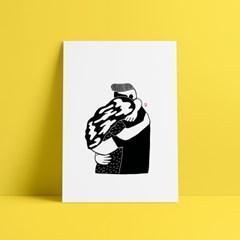Hug me - 일러스트 인테리어 액자