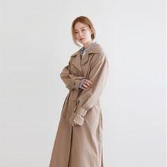 Crisp long trench coat