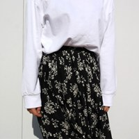 Spring flower pleats skirt
