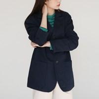 Pocket button cotton jacket
