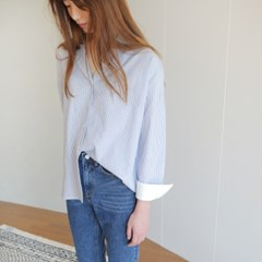 (28일 순차발송예정)TAILORED BLOUSE-STRIPE