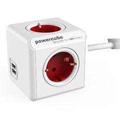 [파워큐브] 익스텐디드 USB형 휴대용 케이블 멀티탭