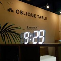 미니 루나리스(Lunaris) 3D LED벽시계/무드등,수면등/화이트/블랙