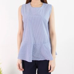 P4177 펄 니트 줄무늬 셔츠 레이어드 셋트