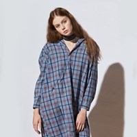 [유라고]체크 와이드 핏 셔츠