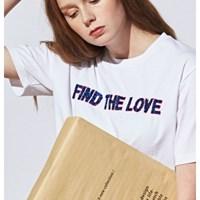 [유라고]스팽글 레터링 티셔츠