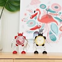 인테리어 로봇 저소음 알람 시계 RB2725 (건전지 포함)