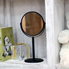 빠띠라인 탁상용 양면거울 올블랙 스틸받침 YA