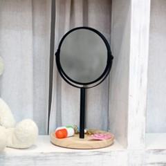 빠띠라인 탁상용 양면거울 우드수납형 화이트 블랙 2종택1 W100