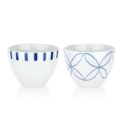니코트 블루 에가와리 도기 컵