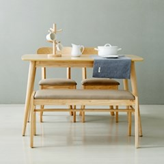 코코로(N) 4인 식탁세트(의자/벤치)
