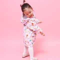 기본 유아 바람막이&우비 - 스위트아이스(핑크)