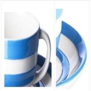 코니쉬웨어 카푸치노 컵 앤 소서 (블루)