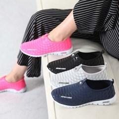 kami et muse Net pattern elastic comfort sneakers_KM17s096