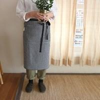 [haku.haru] honest check apron
