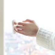 베란다 발코니 접착식 안전 유리문 창문손잡이 4P세트_(566191)