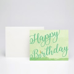 Gold point Birthday card