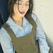 [un'clockwism] pocket long one-piece_khaki