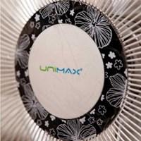 유니맥스 35cm 플라워 좌석용 기계식 5엽 선풍기 UMF-16406D
