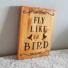 fly like a bird 원목 그림액자