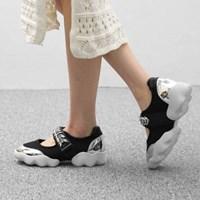 kami et muse Cubic velcro strap mash sneakers_KM17s113