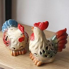 닭 캔들홀더 2P(J2815)