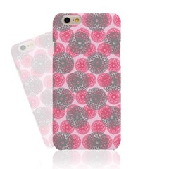 Pink X Grey Simple Pattern (HE-045B) Hard Case