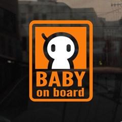 [미니심플] 아기가 타고 있어요-한가닥머리