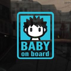 [미니심플] 아기가 타고 있어요-까치머리
