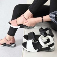 kami et muse Air wedge outsole velcro sandals_KM17s123