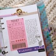 세로 TICKET 메모지 (핑크)