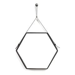 클렙튼 육각 스트랩거울 HEXA 블랙 (후크증정)