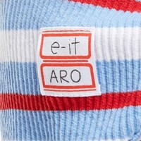 [e-it casual]이름각인 스트라이프 기모노반팔티 핑크블루