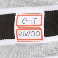 [e-it casual]이름각인 스트라이프 민소매티 블랙