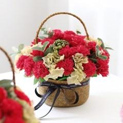 클래식 비누카네이션꽃바구니 (대)