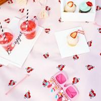 [방수피크닉매트] Melting heart - Pink (Large+부직포가방세트)