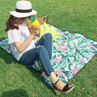 [방수피크닉매트] Tropical paradise - Mint (Small+부직포가방세트)