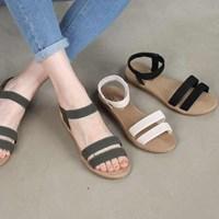 kami et muse Elastic band soft flat sandals_KM17s135