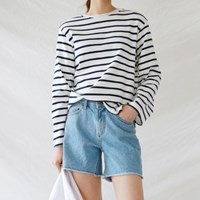 Basic daily denim shorts