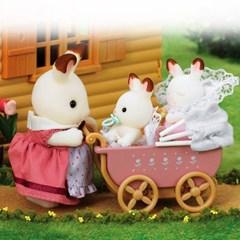 실바니안패밀리 5018 초콜릿토끼 쌍둥이와 유모차(2206)