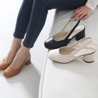 kami et muse 6cm rouding heel sling back pumps_KM17s136
