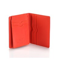 Paula Simple Card Wallet Pink Coral