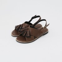 Tassel point x-strap sandals