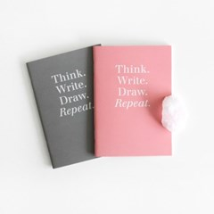 POCKET NOTEBOOK - GRAY / PINK