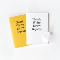 POCKET NOTEBOOK - YELLOW / WHITE
